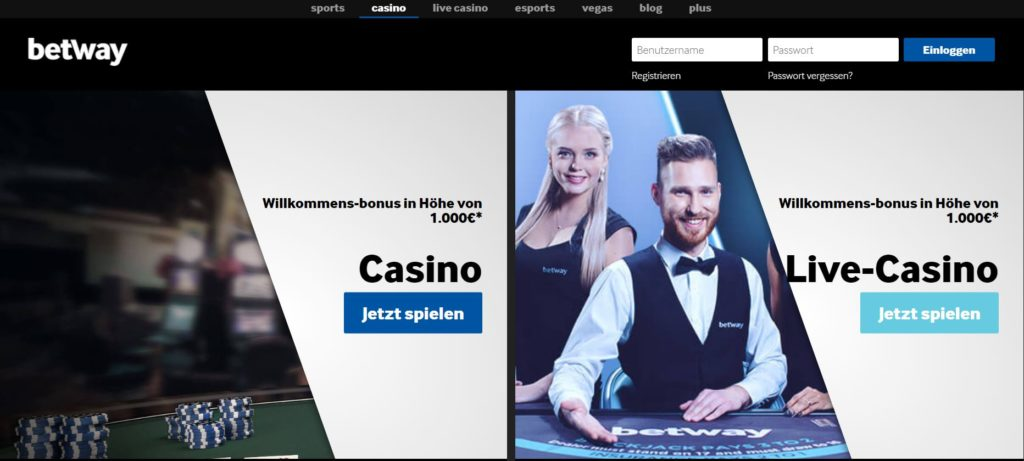 Betway Casino Vorschau