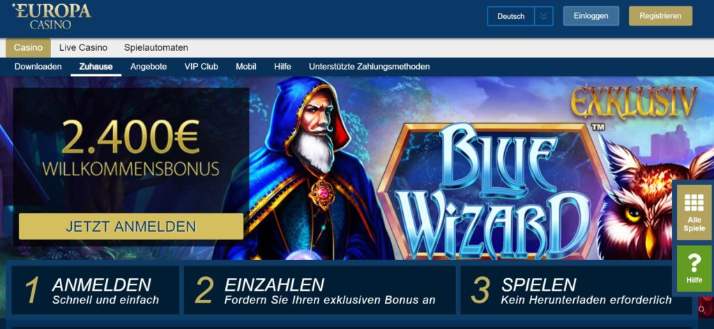 Europa Casino Vorschau